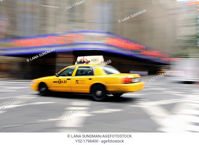 Yellow Taxi in New York City, USA