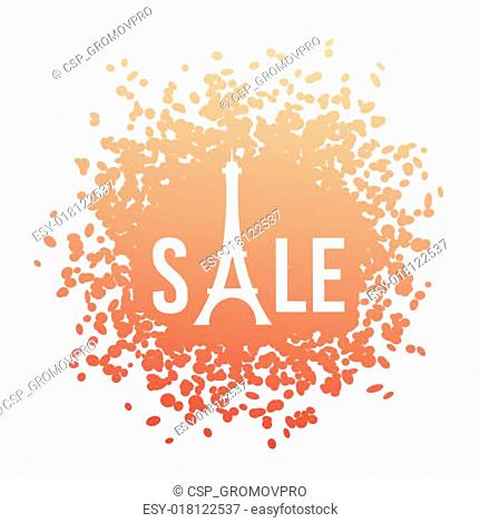 Eiffel shape sale vector illustration