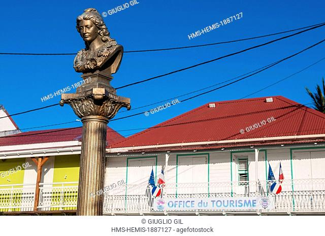 France, Guadeloupe (French West Indies), Les Saintes Archipelago, Terre de Haut, Marianne statue on the main square