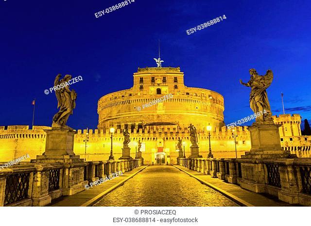 Castel Sant'Angelo in Rome in Italy