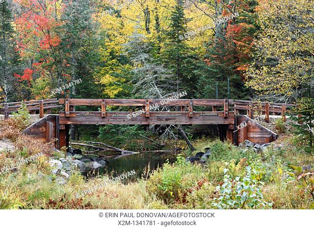 Jackman Brook during the autumn months in Woodstock, New Hampshire