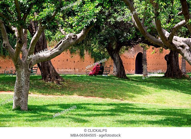 North Africa, Morocco, capital Rabat, Public gardens of Rabat