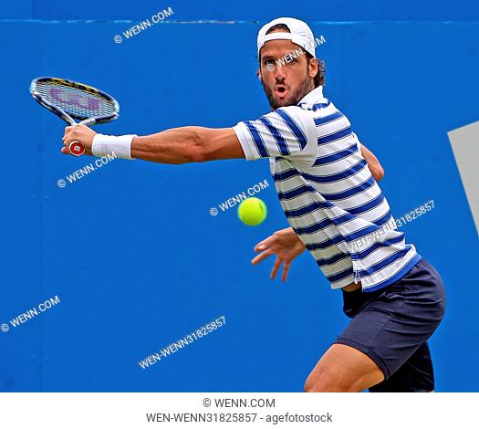 Aegon tennis Semi Finals Day...Grigor Dimitrov vs Feliciano Lopez. Featuring: Feliciano Lopez Where: London, United Kingdom When: 24 Jun 2017 Credit: WENN