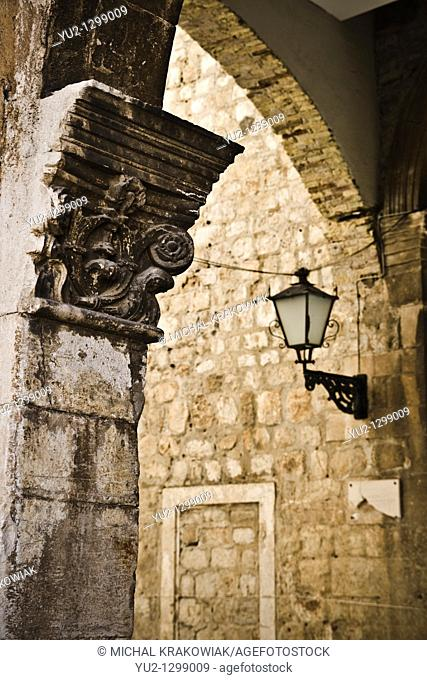 Architectural detail from old town of Dubrovnik