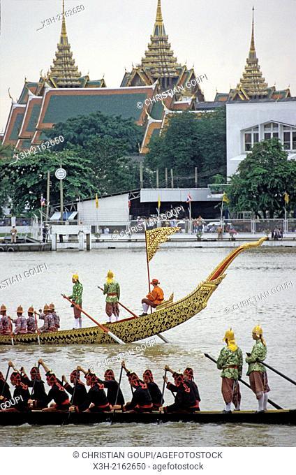 Royal Barge on Chao Phraya River, Bangkok, Thailand, Southeast Asia