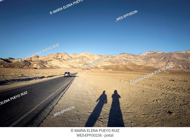 USA, California, Death Valley, Artist's Drive at sunset