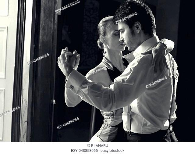 Beautiful dancers performing an argentinian tango. Please check similar images from my portfolio