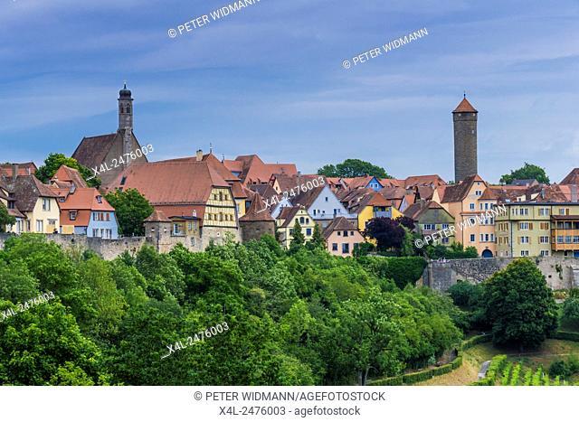 Views of Rothenburg ob der Tauber, Bavaria, Germany, Europe