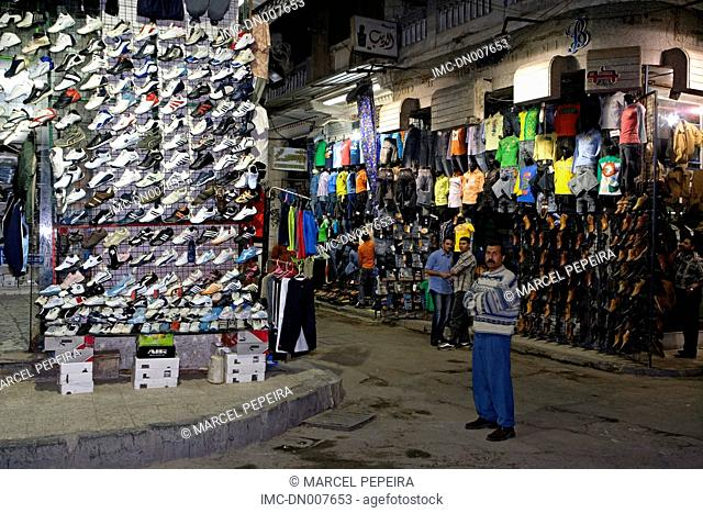 Egypt, Alexandria, shops along the corniche