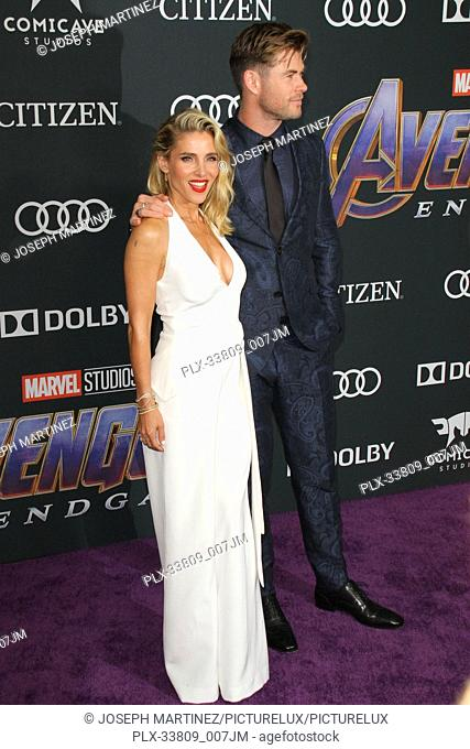 """Elsa Pataky, Chris Hemsworth at The World Premiere of Marvel Studios' """"""""Avengers: Endgame"""""""" held at the Los Angeles Convention Center, Los Angeles, CA, April 22"""