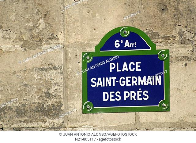 Saint Germain Des Prés, Paris, France
