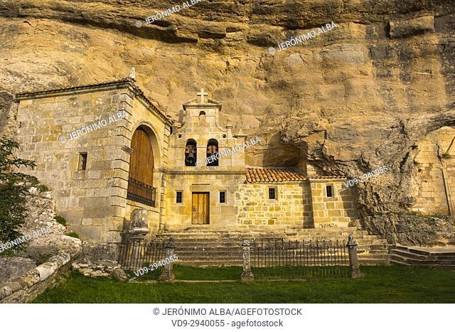 Ermita San Bernabe, Ojo Guareña Natural Monument, Merindad de Sotoscueva, Burgos, Castillo y Leon, Spain, Europe