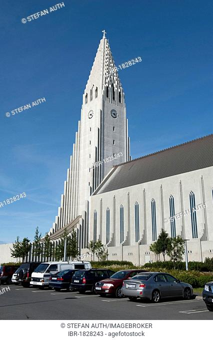 Hallgrímskirkja, Lutheran parish church, town centre, Reykjavik, Iceland, Scandinavia, Northern Europe, Europe