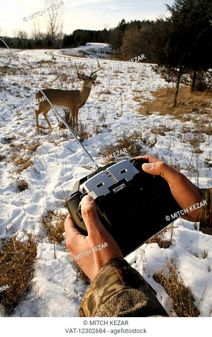 Conservation Officer With Remote Tracking Device