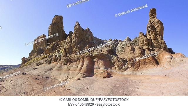 Rock formation at Cañadas del Teide in Tenerife Canary Islands Spain