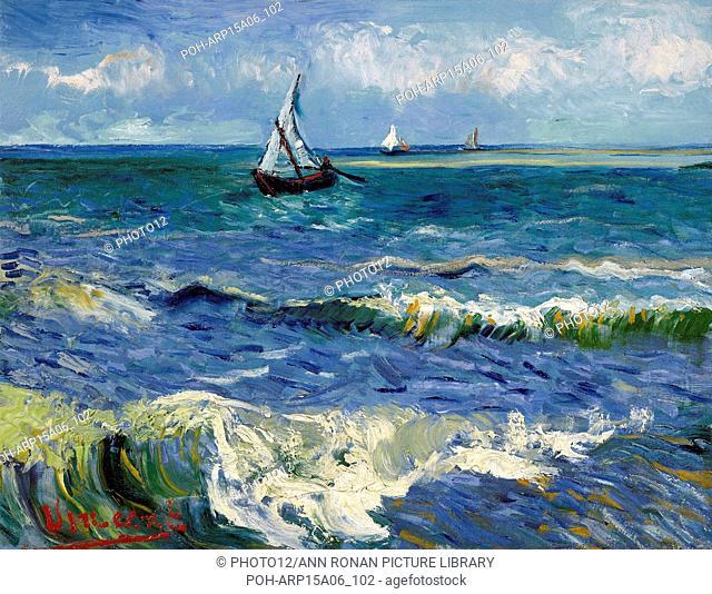 Vincent van Gogh Dutch school Seascape near Les Saintes-Maries-de-la-Mer June 1888 Oil on canvas (50.5 x 64.3 cm) Amsterdam, Van Gogh Museum