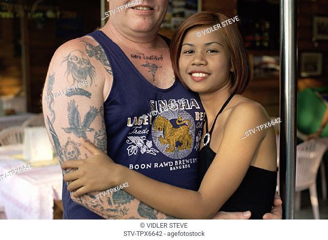 Asia Bar Beach Beautiful Beer Girl Holiday Landmark Male Man Nightlife Pattaya Singha Tatoo Tatooed Thailand Tou