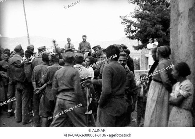 Spanish Civil War 1936-1939: Group of Italian soldiers with some civilians, shot 02-05/1939 by Lorandi Maurizio