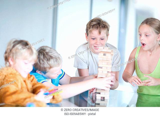 Children playing wood blocks