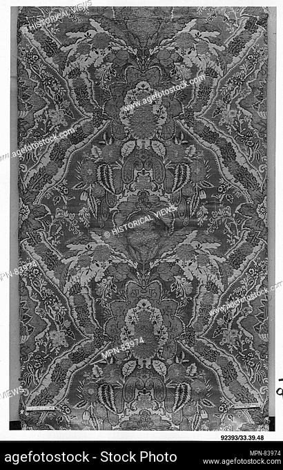 Piece. Date: 1725-30; Culture: Italian or French; Medium: Silk and metal thread; Dimensions: L. 67 1/2 x w. 20 inches (171.5 x 50