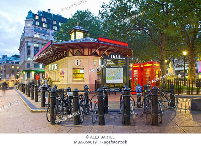 Theatre Tickets Kiosk, Leicester Square, London, England