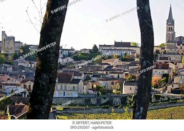 The wine town of St-Émilion, Bordeaux, France