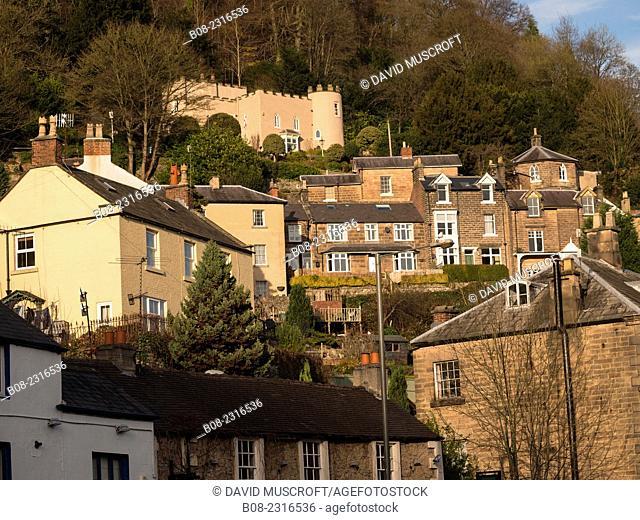 houses on the hillside above Matlock Bath, Derbyshire, Britain