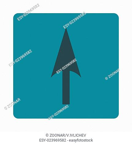 Arrow Axis Y flat soft blue colors rounded button