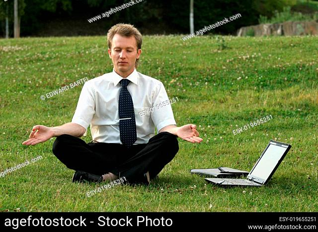 businessman and yoga