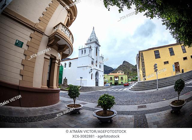 Our Lady of Light church in the historical centre of Los Silos municipality (Tenerife island)
