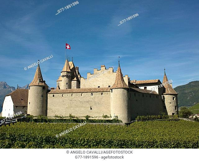 Switzerland, Canton Vaud  Aigle  The Castle of Aigle