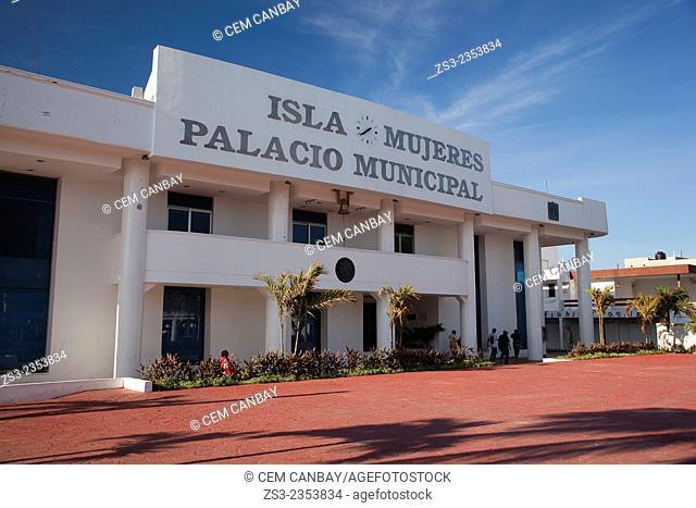 Palacio Municipal-Municipal Palace or City Hall, Isla Mujeres, Cancun, Quintana Roo, Yucatan Province, Mexico, North America