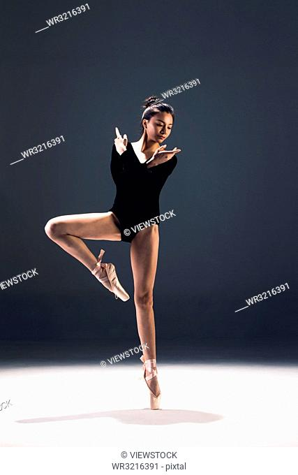 Young women in the dance ballet