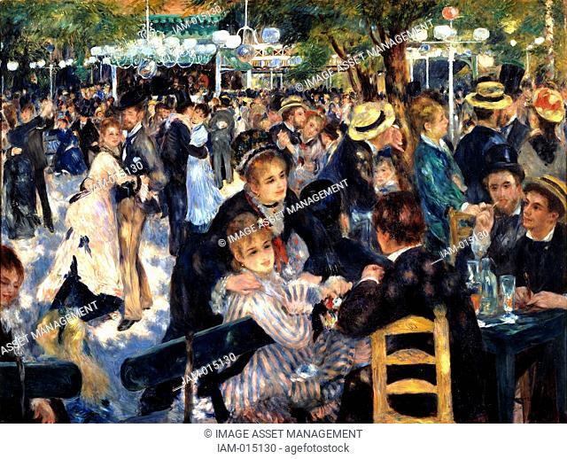 Bal du moulin de la Galette' Dance at the Moulin de la Galette, 1876. Oil on canvas. Pierre-Auguste Renoir 1841-1919 French painter
