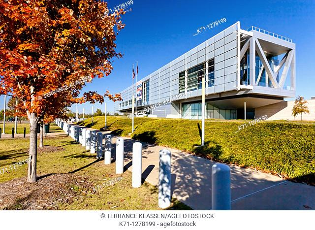 The William J Clinton presidential library in Little Rock, Arkansas, USA