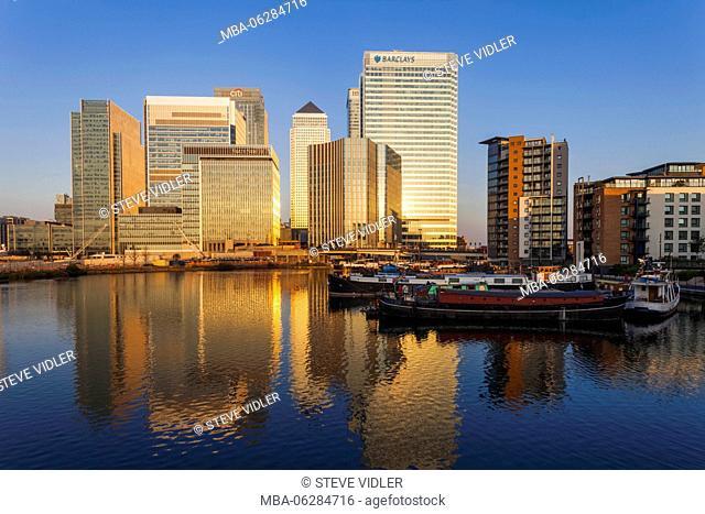 England, London, Docklands, Canary Wharf