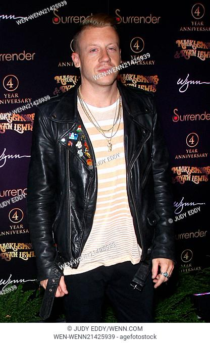 Macklemore and Ryan Lewis at Surrender Nightclub in Encore at Wynn Las Vegas to perform at the club's 4 year anniversary celebration Featuring: Macklemore...