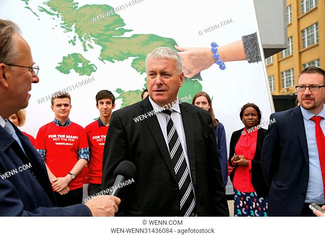 Labour MP Ian Lavery reveals new campaign poster for Labour's General Election Campaign in London Featuring: Ian Levery MP Where: London