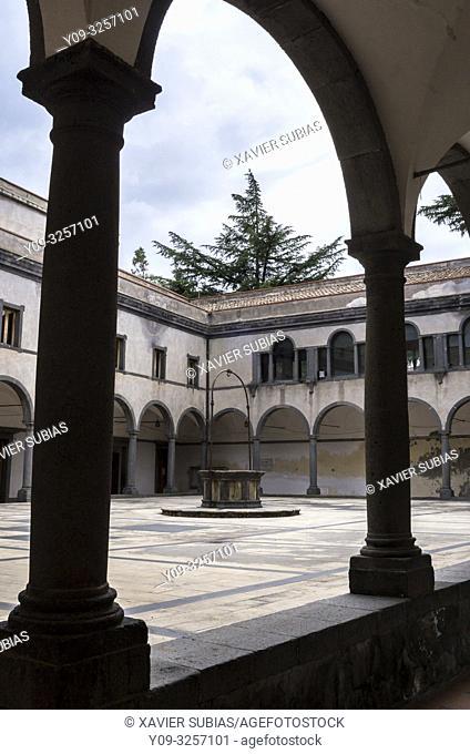 Town Hall, formerly St. Francis Monastery, Randazzo, Catania, Sicily, Italy