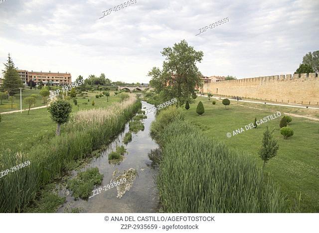 Burgo de Osma walled village in Soria province Castile Leon Spain on June 11, 2017