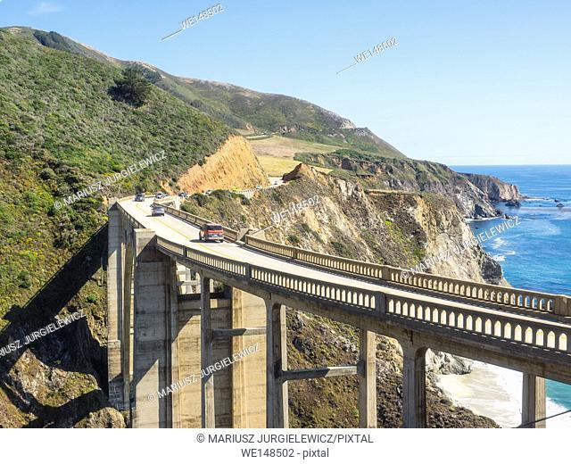 Bixby Creek Bridge is a reinforced concrete open-spandrel arch bridge in Big Sur, California