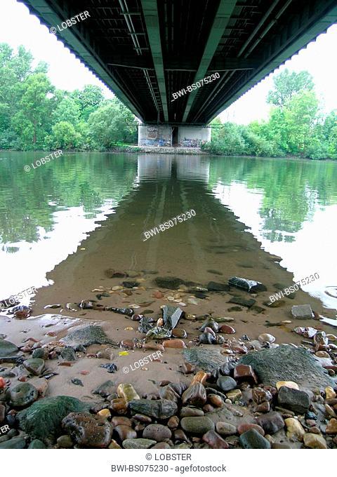 brigde over the Main River, Germany, Hesse, Frankfurt