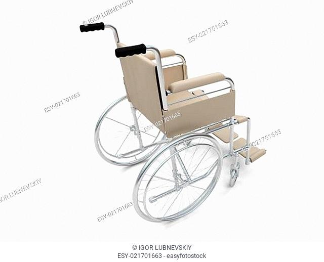 Wheelchair isolated view