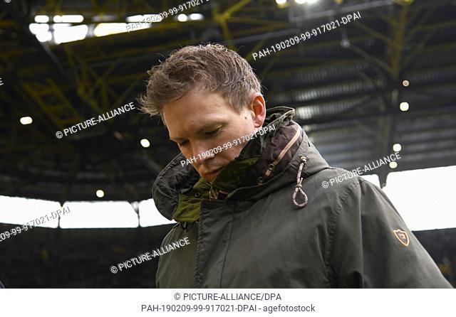 09 February 2019, North Rhine-Westphalia, Dortmund: Soccer: Bundesliga, Borussia Dortmund - 1899 Hoffenheim, 21st matchday at Signal Iduna Park