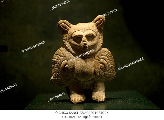 A clay statuette is displayed in the National Museum of Anthropology in Mexico City, November 12, 2011  The National Museum of Anthropology and History...