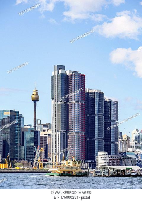 Australia, New South Wales, Sydney, City skyline with skyscrapers