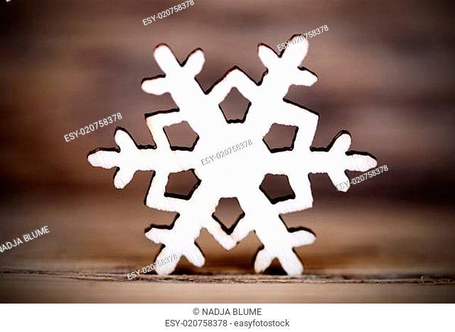 Snowflake on Wood IV