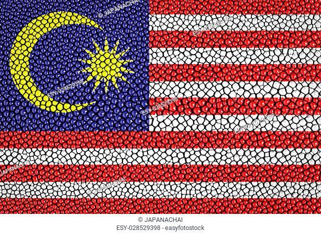 Malaysia Flag painted on stingray skin texture
