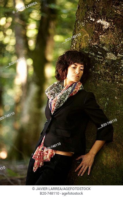 30 year old woman. Belate, Baztan, Navarra