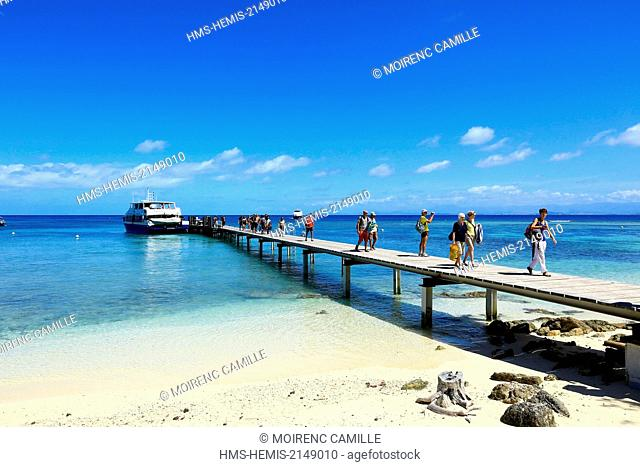 France, New Caledonia, Southern Province, off Noumea, nature reserve Amedee Island, Lagoon listed as World Heritage by UNESCO